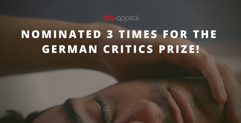 Thumbnail for NO HARD FEELINGS nominated for German Film Critics' Prize 2020